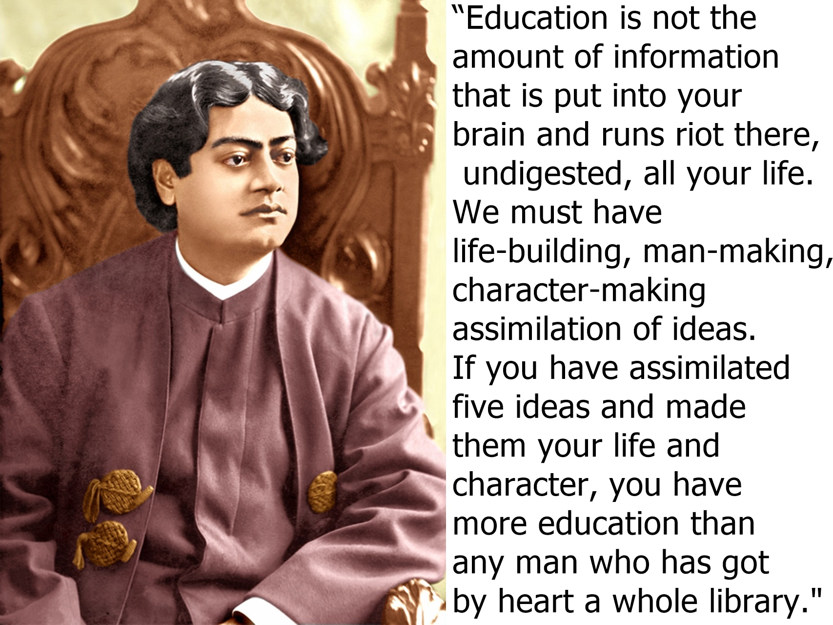 Quotes Vivekananda Quotes Of Swami Vivekananda On Education  Ramakrishna Mission
